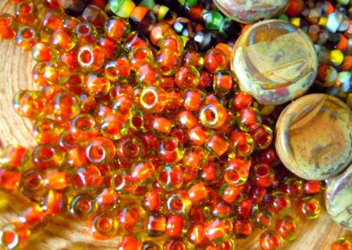 """6//0 Zweifarbige japanische Toho-Rocailles-Perlen /""""Hyazinth Lined Jonquil/"""" 10g"""
