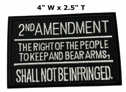2ND Amendment Rights Embroidered Iron or Sew-on Patch Morale Tactical