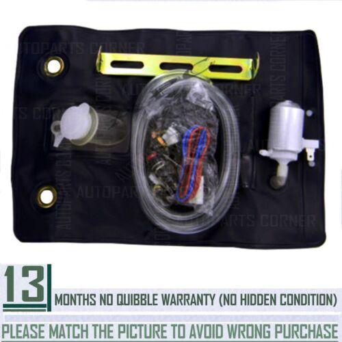Windscreen Universal Washer Bottle Bag Kit With 12V Pump 151286776374 Black L5