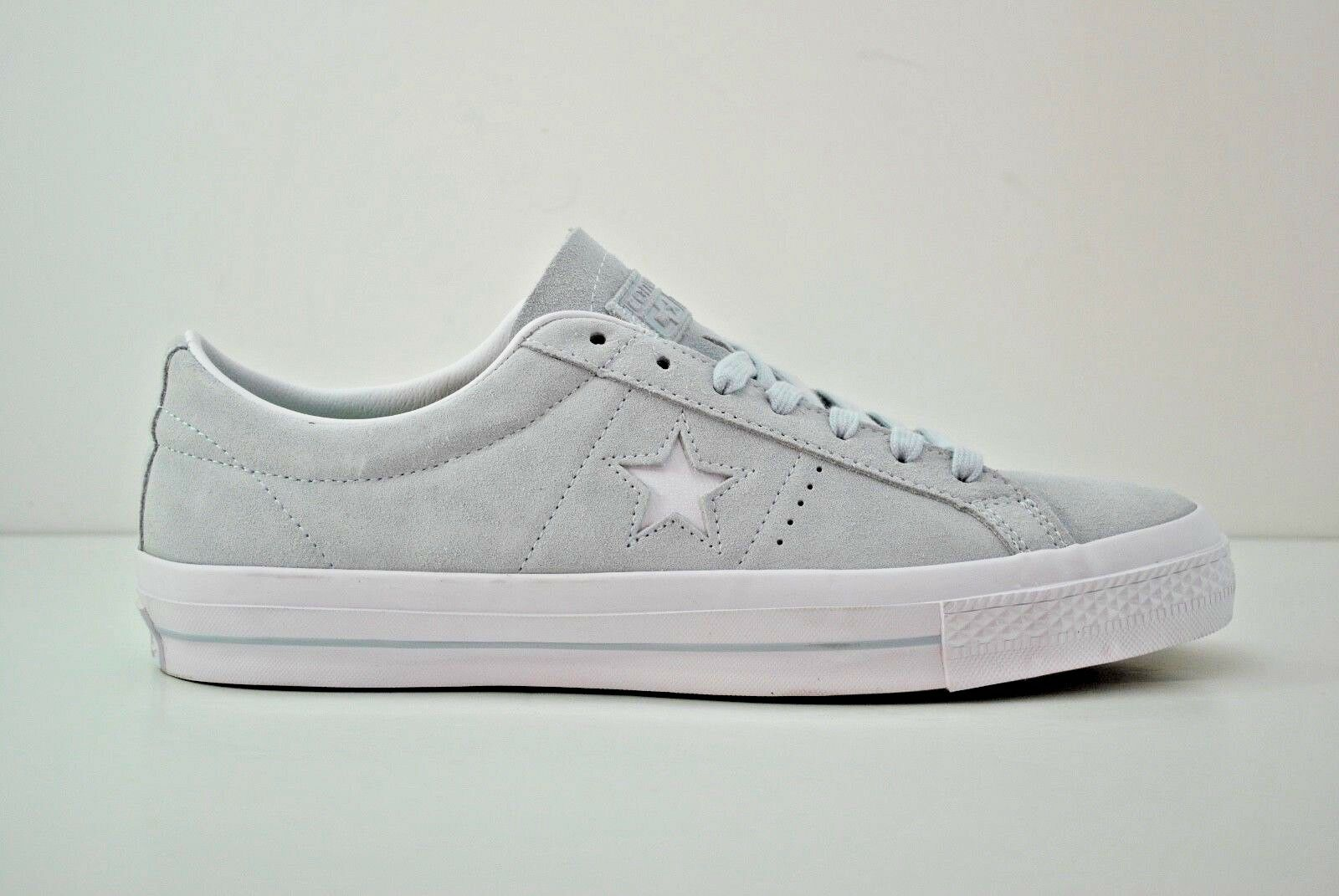 Mens Converse One Star Suede Ox shoes Size 9 - 13 Poplar bluee White 153963C