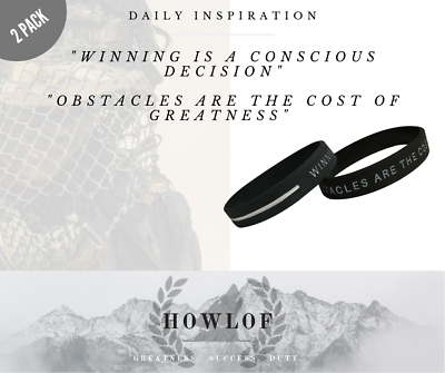 Premium Silicone Wristband 2 x Daily Inspiration!!!