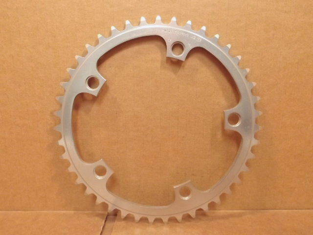 New-Old-Stock Shimano 600 (W-Cut) Chainring...43T and 130 mm BCD