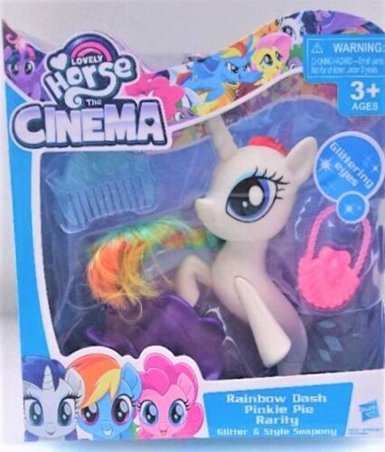 My Lovely Cheval The Cinema Rainbow Dash Pinkie Pie Rarity paillettes style Seapony