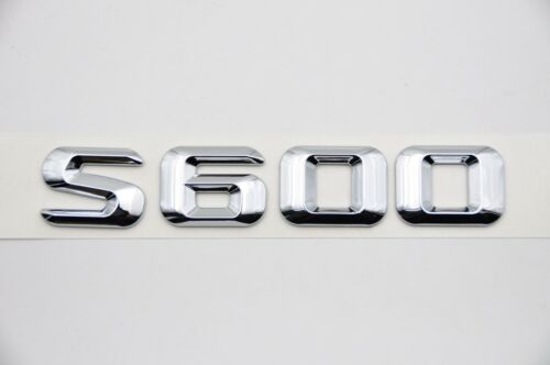 Chrome Letters Trunk Lid Rear Emblem Badge for Mercedes Benz S-CLASS S600