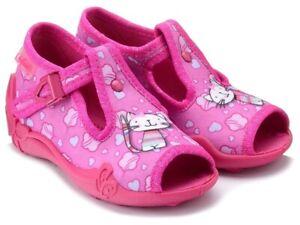 BABY GIRL SANDALS SLIPPERS TODDLER KIDS Nursery School SIZES UK 2-9 Made in EU