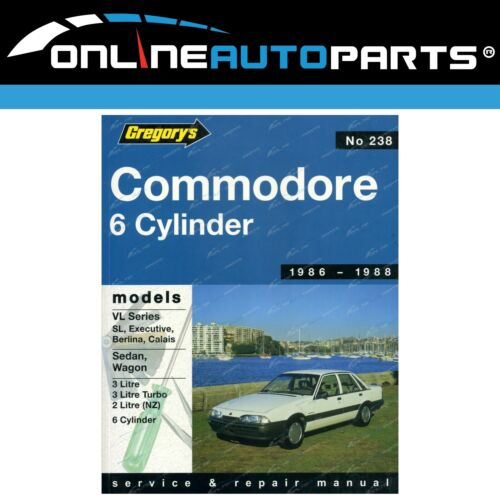 Gregory's Workshop Repair Manual Book Holden Commodore VL 3.0L ...