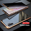thumbnail 15 - Magnetic Full Glass Anti Spy Case For Galaxy S21 S20 S10 S9 S8 Plus Note 20 10 9
