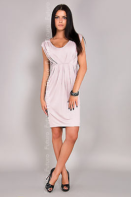 Women's Maternity Mini Bubble Dress V Neck Pregnancy Tunic Sizes 8-18 8437