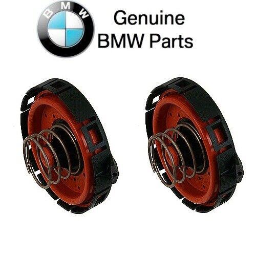 For BMW E53 E60 E63 E64 E66 E70 650i 750i X5 Pair Set of 2 PCV Valves Genuine