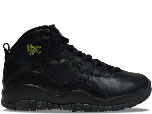 promo code b6002 7b825 Nike Air Jordan Retro 10 NYC Black/gold Men Size 9.5 310805 012