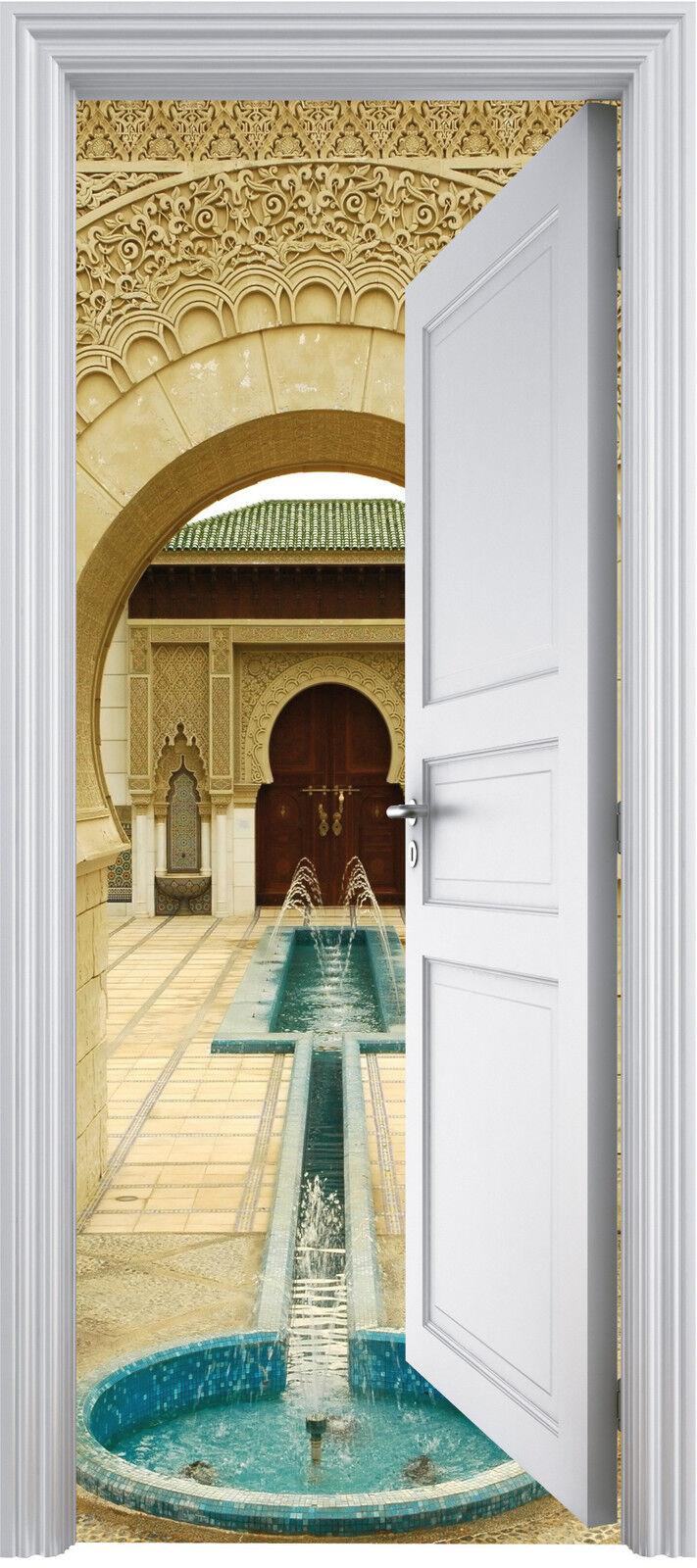Adhesivo Puerta Trompa Trampantojo Palacio Oriental 90x200 cm Ref 311