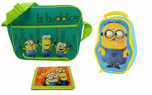 8cabaad844f3 Image is loading Minions-Le-Buddies-Shoulder-Messenger-Bag-Shaped-Stuart-