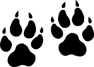 wolf paw prints vinyl decals  stickers graphics ebay husky clipart transparent husky clipart outline