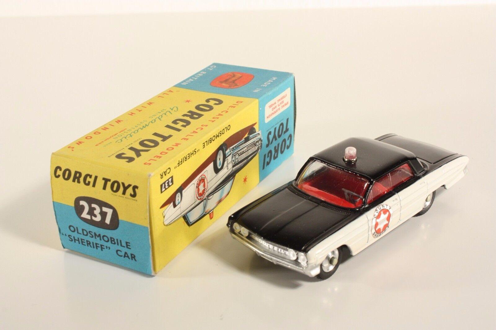 Corgi toys 237, Oldsmobile  sheriff  car, Mint en Box  ab2055