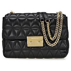 71b635abda59b Michael Kors Sloan Large Chain Shoulder Bag Black Leather for sale ...