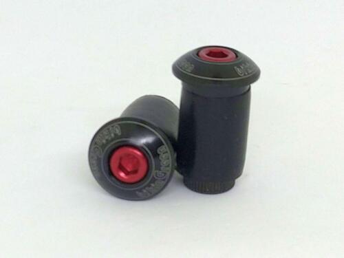 """Handlebar plug  /""""Black/"""" Road BIKE bikinGreen Machined Bar end cap"""
