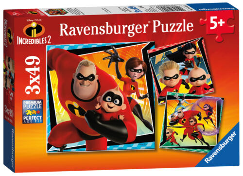 08053 Ravensburger Disney the Incredibles 2 Jigsaw Puzzles 3x49pc Enfants