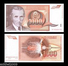 Yugoslavia 1000 (1,000) Dinara 1990 P-107 Mint UNC Uncirculated Banknotes