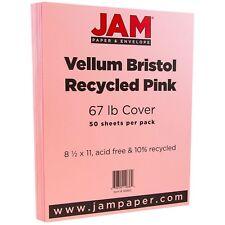 jam paper translucent vellum paper 8 5 x 11 30lb blush pink 100