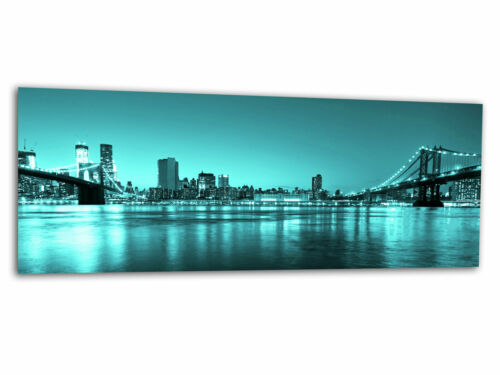 Verre-image La Fresque New York Pont Turquoise ag-00577 125 x 50 cm
