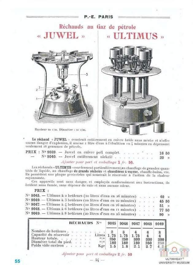 lampe rechaud vapeur de petrole ultimus 4 becs 1907 petrol vapor stove lamp.