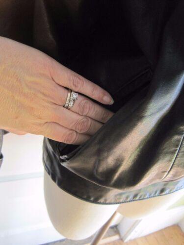 Giorgio 90 Gino Café Di Femmes M Moto Veste Cuir Taille Noir Années Bomber 5qpqayt