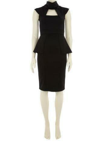 Dorothy Peplum 16 Geometric 18 Nero Perkins Scuba Dress W4qwpxgRZ4