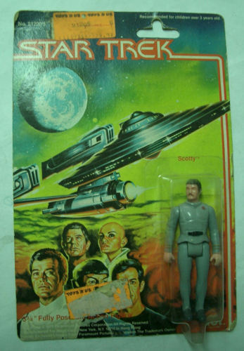VINTAGE STAR TREK MEGO 9,5 CM SCOTTY BLISTER MOC SELTENE