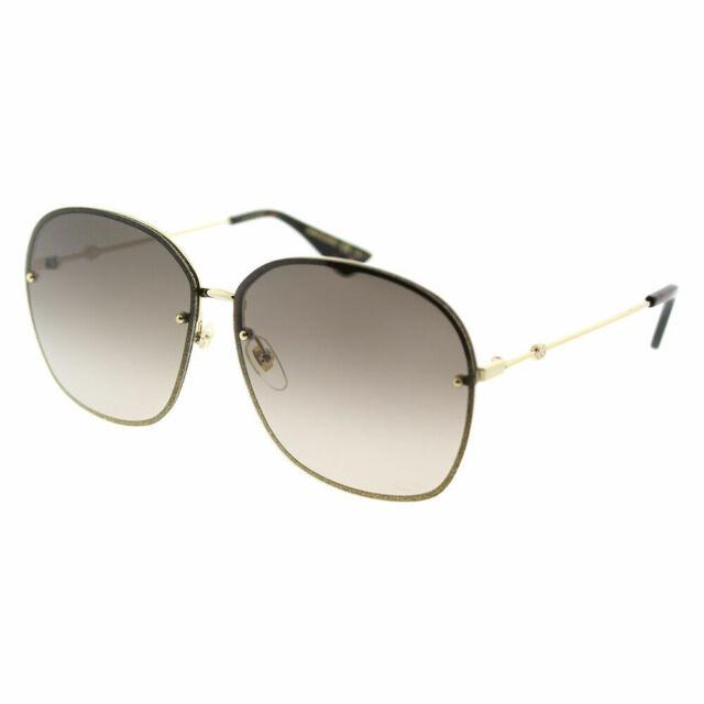 c27efcce87b Gucci Women Sunglasses Gg0228s 001 Gold Brown Gradient Lens 63mm Authentic