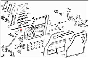 New OEM W110 W111 W112 Sed Mercedes Fastener Clips for Upper Moulding Set of 8