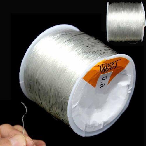 100M 0.8mm Clear Stretch Elastic Beading Cord String Thread Spool Roll SALE C9Y5