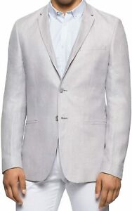 Calvin Klein Mens Sport Coat Gray Size Large L Two Button Slim Fit $228 037
