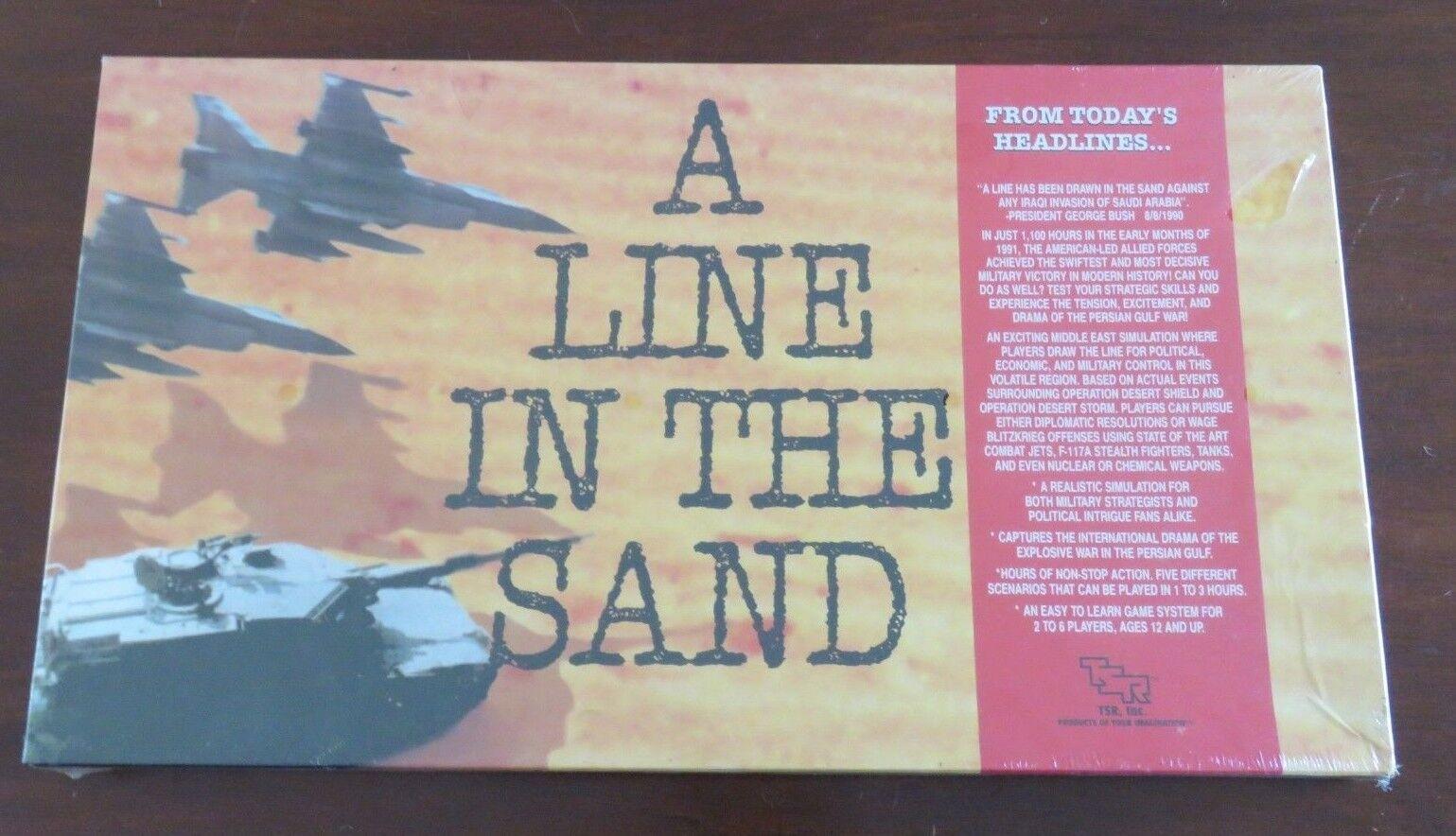 1991 A LINE IN THE SAND War Game Desert Storm Gulf War Sadam Bush TSR SEALED