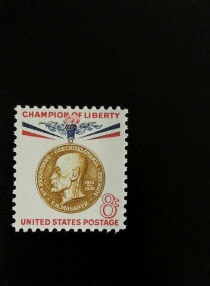 1960 8c Thomas G. Masaryk, 1st President of Czechoslova