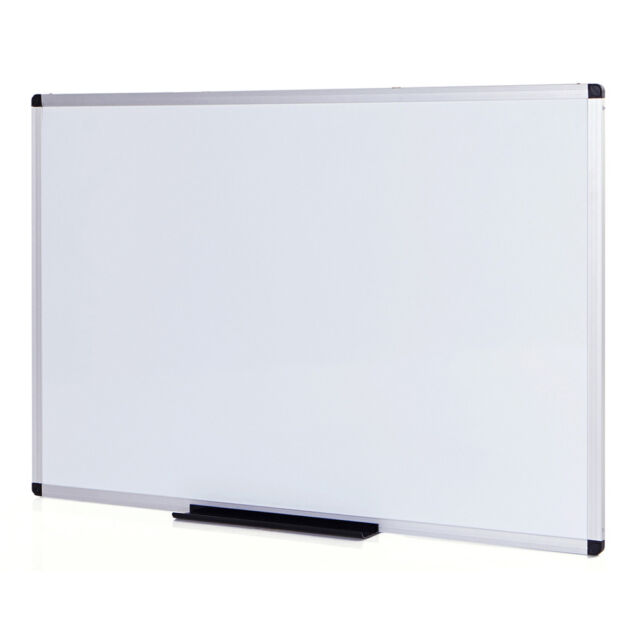 Magnetic Whiteboard Dry Erase Board 48 X 36 Inches Silver Aluminium ...