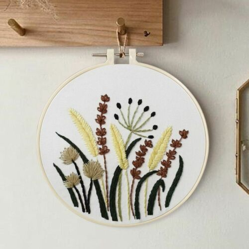Needle Punch Hoop Kit Sulaman Cross Stitch DIY Embroidery For Handmade Beginner