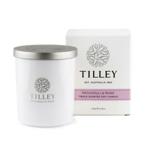 Tilley Candle PATCHOULI MUSK 45hr Scented Candle BNIB