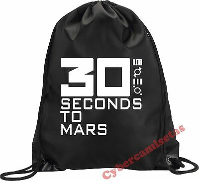 MOCHILA BOLSA SACO 30 SECONDS TO MARS NEGRA VARIOS COLORES BLACK BACKPACK BAG
