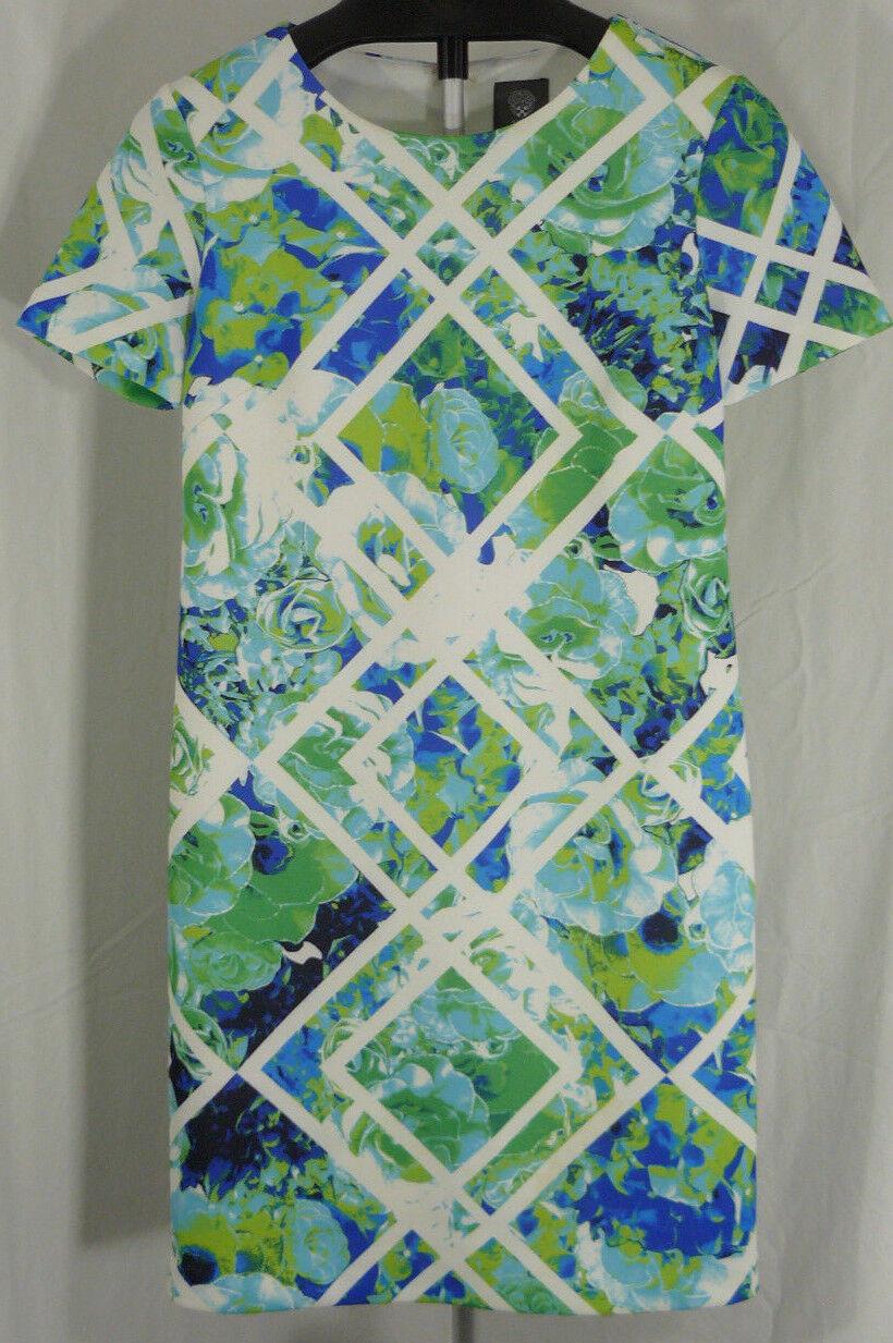 Vince Camuto Geo Floral Cap Sleeve Bodycon Dress Größe 8