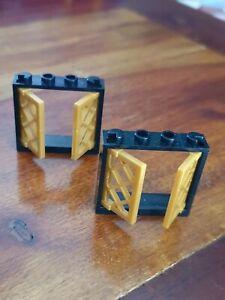 LEGO-Set-6243-Pirates-Ref-60594-60607-2x-fenetre-noir-or-Window-Black-PearlGold