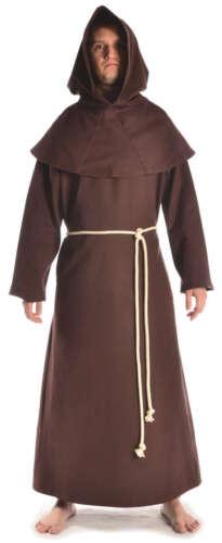 Mittelalter Mönchskutte Mönchsrobe braun Baumwolle zweiteilig Halloweenkostüm