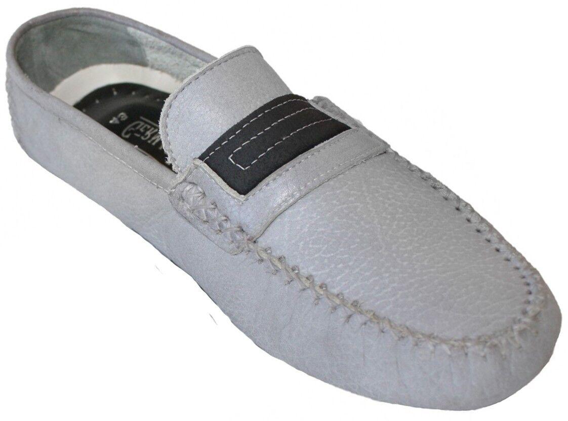 German wear, Mocassini tempo driving MOC per il tempo Mocassini libero Scarpe Scarpe in pelle Nubuck Grigio c4c051