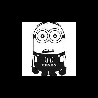 Funny Honda Minion Car Sticker Very cool High Quality JDM VAG HONDA Civic Accord