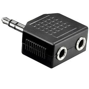 Audio-Prise-D-039-Aptateur-3-5mm-Stereo-Repartition-Fiche-2-Accouplements-Anguille