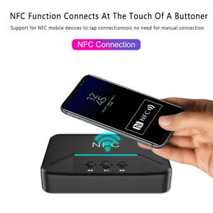 Wireless-Bluetooth-5-0-Receiver-3-5mm-Jack-AUX-NFC-to-2-RCA-Audio-Stereo-Adapter