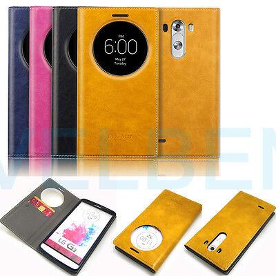 Leather Shockproof wallet quick circle case card pocket flip for LG G3/Vista V10