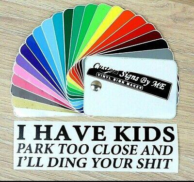 Adattabile Ho Bambini Park Troppo Vicino Sticker Vinyl Decal Adesivo Finestra Paraurti Nero- Modelli Alla Moda