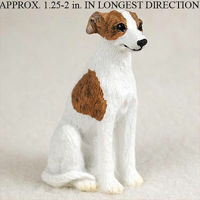 Whippet Mini Hand Painted Figurine Brindle/Wh