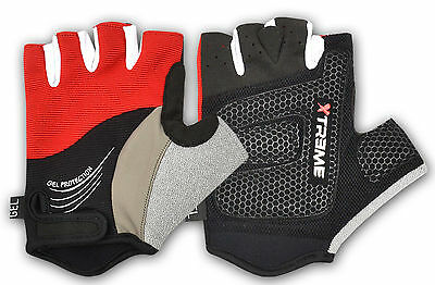 Demi Doigt Vélo Cycle Gants Silicone Gel Paume Sports Cyclisme Xtreme Fitness