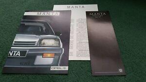 1986 1987 OPEL MANTA inc GSI 7-86 Allemand brochure + fascicule + prix-GTE-afficher le titre d`origine rGlWszPX-07135807-790789315